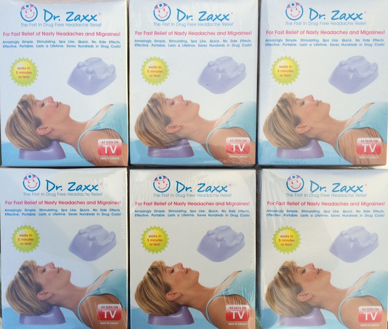 6 individual dr. zaxx headache relief accu-pressure devices